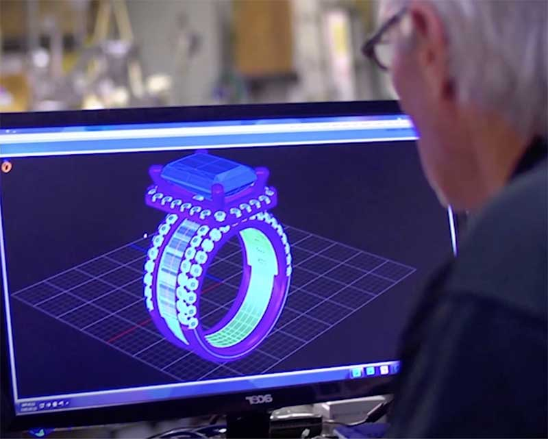 Designing ring on computer
