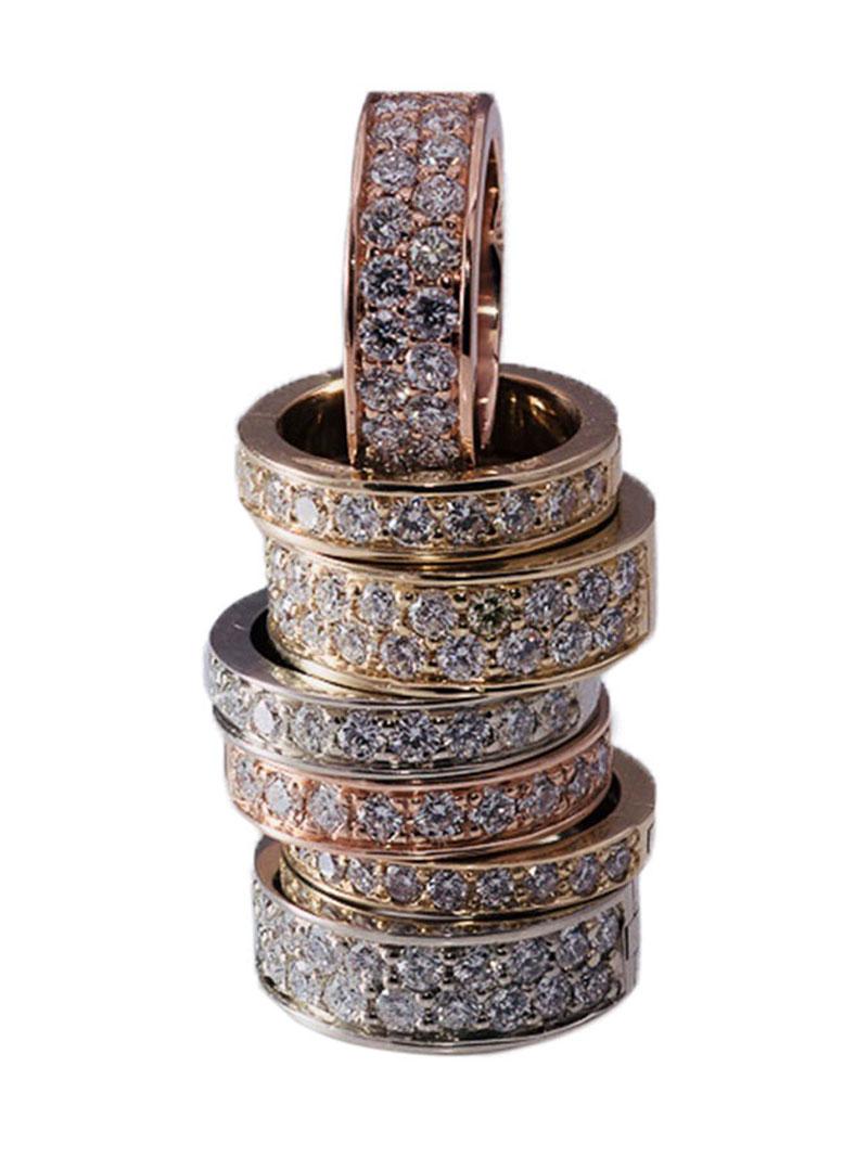 Locking Diamond Toe Rings