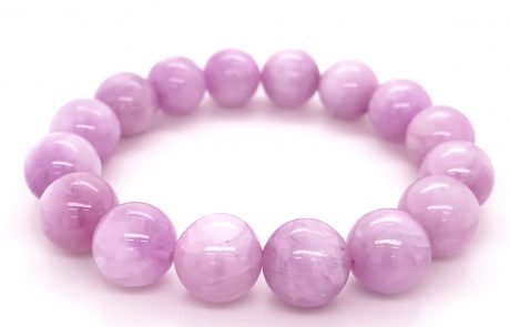 A luscious pink Kunzite, large sphere bracelet on expandable cord. Rare and captivatingly feminine!