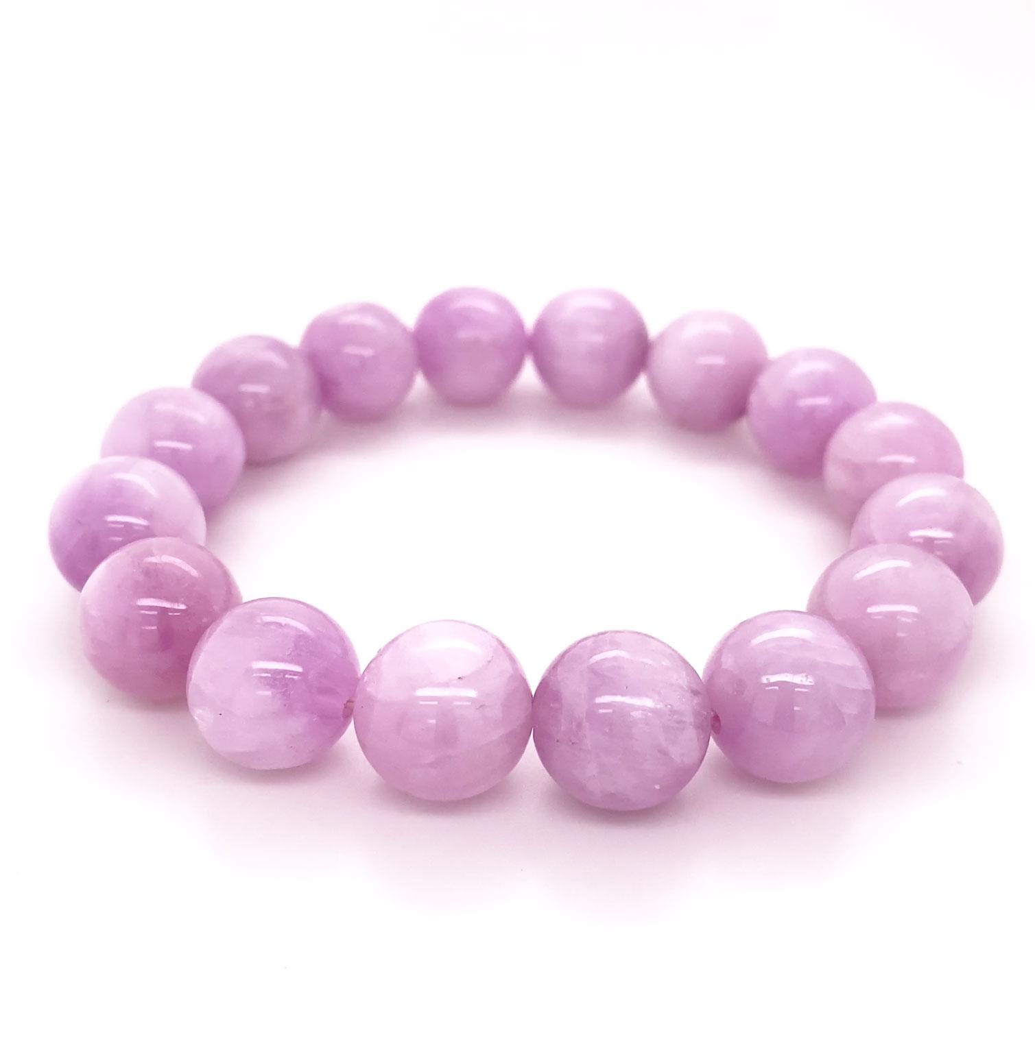 A luscious pink Kunzite, large sphere bracelet on expandable cord. Rare and captivatingly feminine!